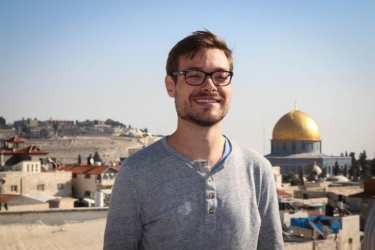 David Ehl vor der Klagemauer in Jerusalem