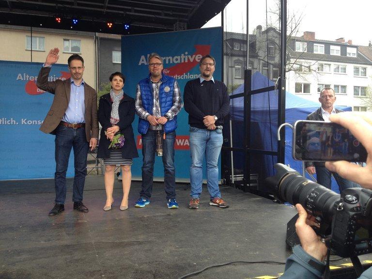 AfD-Wahlkampfauftakt in Altenessen