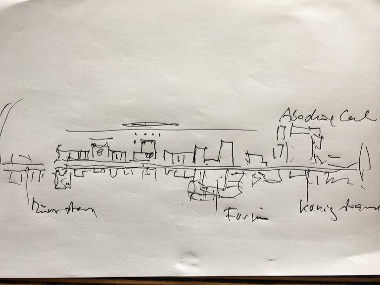 Der Plan des Architekten Walter Brune für die Innenstadt Duisburg