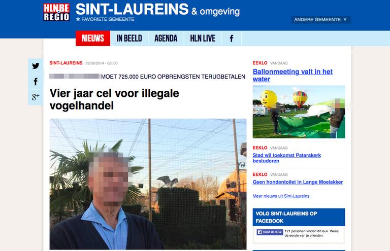 Die belgische Nachrichtenseite hin.be berichtet über Hans v.T.s Verurteilung.