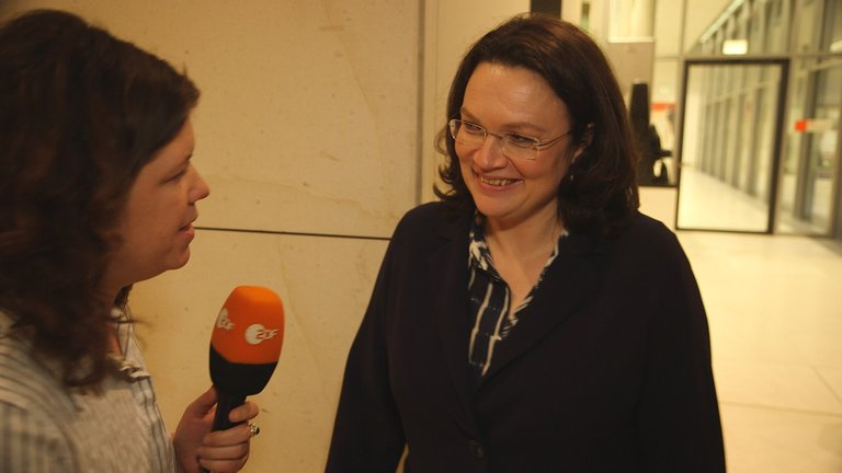 Nahles im Interview