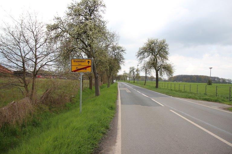 Straßenschild von Sumte.