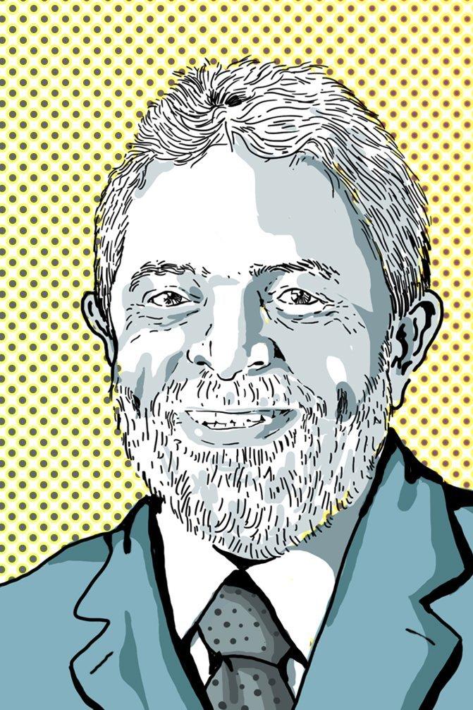 Illustration des Arbeiterführers Lula