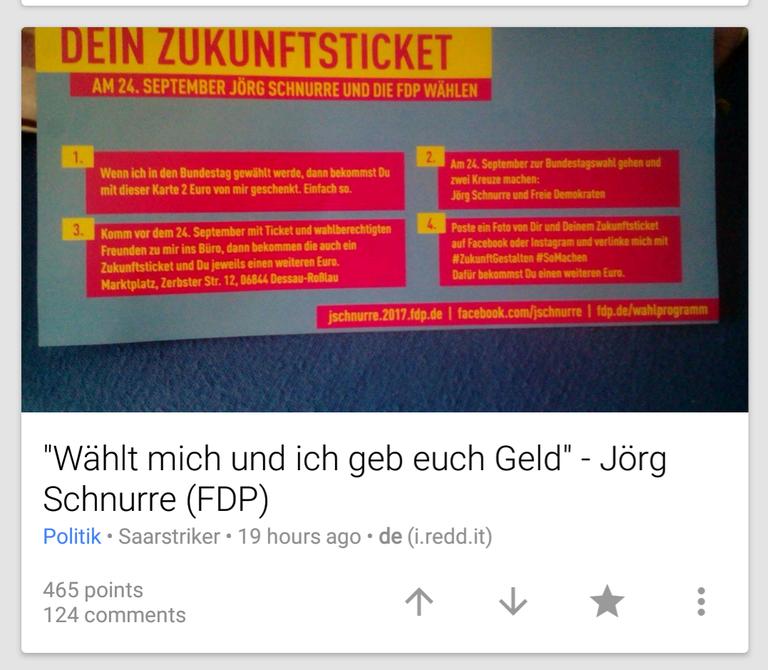 FDP-Kandidat wollte Geld für Stimmen zahlen
