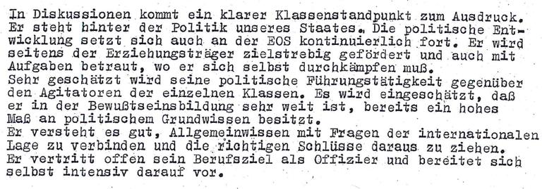 Der spätere Stasi-Anwalt Frank Hannig bekommt sehr gute Stasi-Beurteilungen.