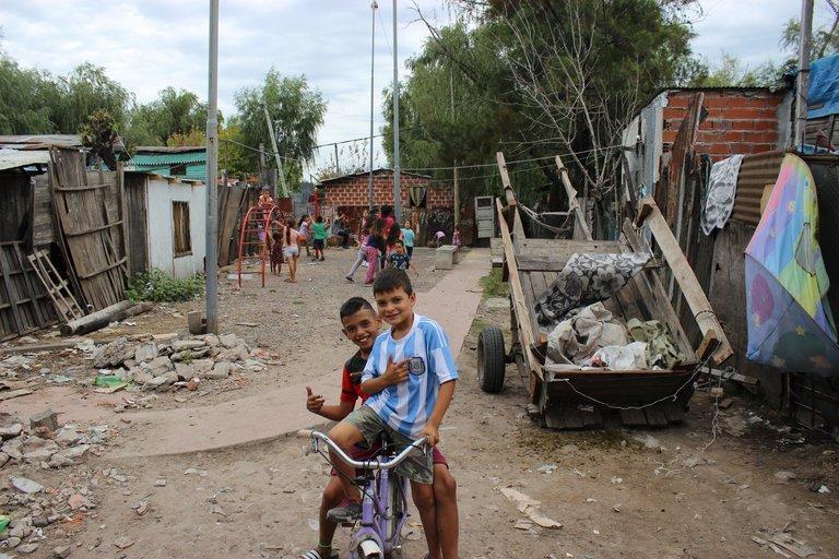 Häufig überschwemmt: Der Slum von Garrote.