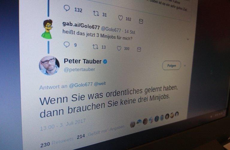 Peter Tauber wirft Minijobbern schlechte Ausbildung vor