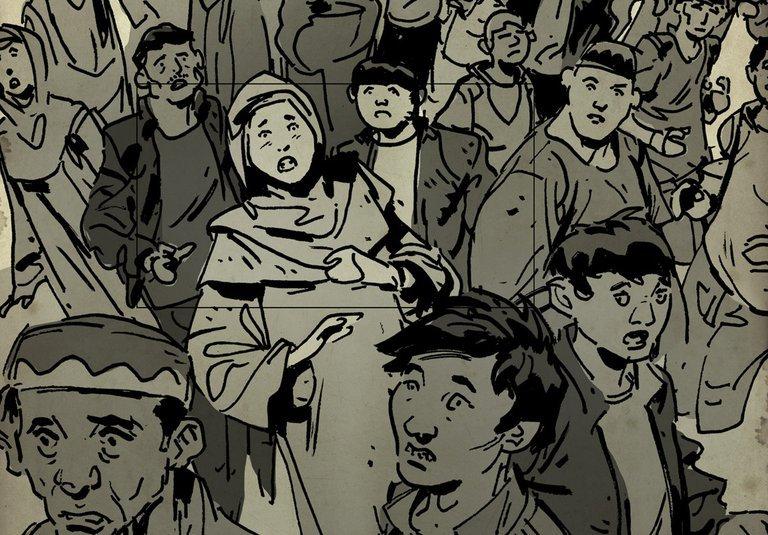 Die Menschen protestierten tagelang friedlich gegen die Verhaftung Ihrer Angehörigen und Freund.