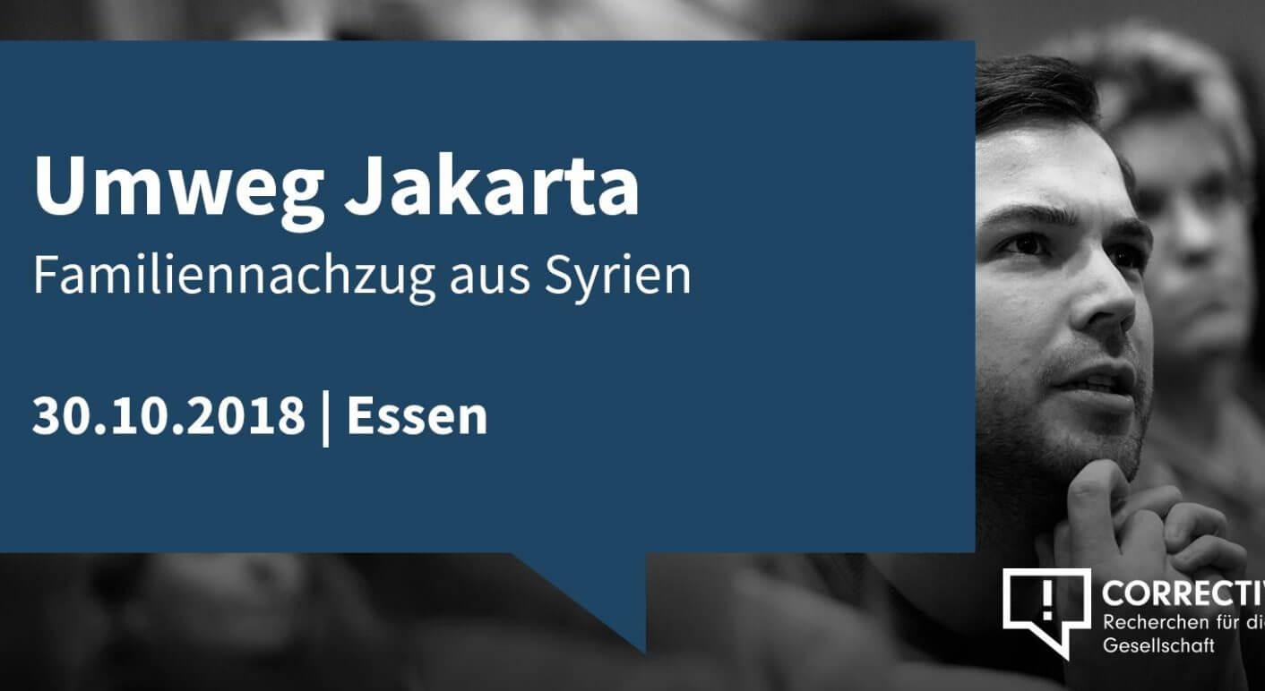 Lesung: Umweg Jakarta. Familiennachzug aus Syrien