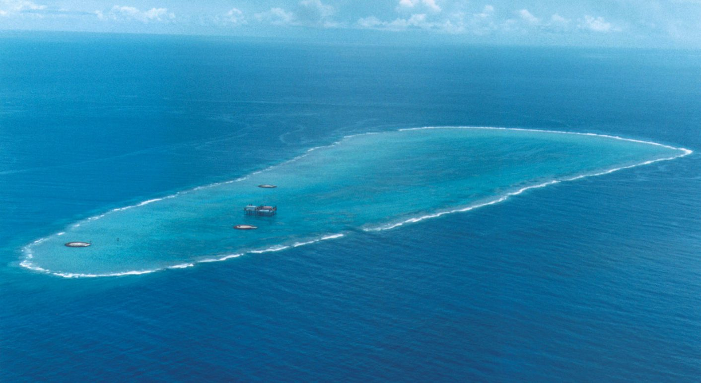 5291a6628ae2d The island Okitonishima. It might not survive the rising sea© AFP