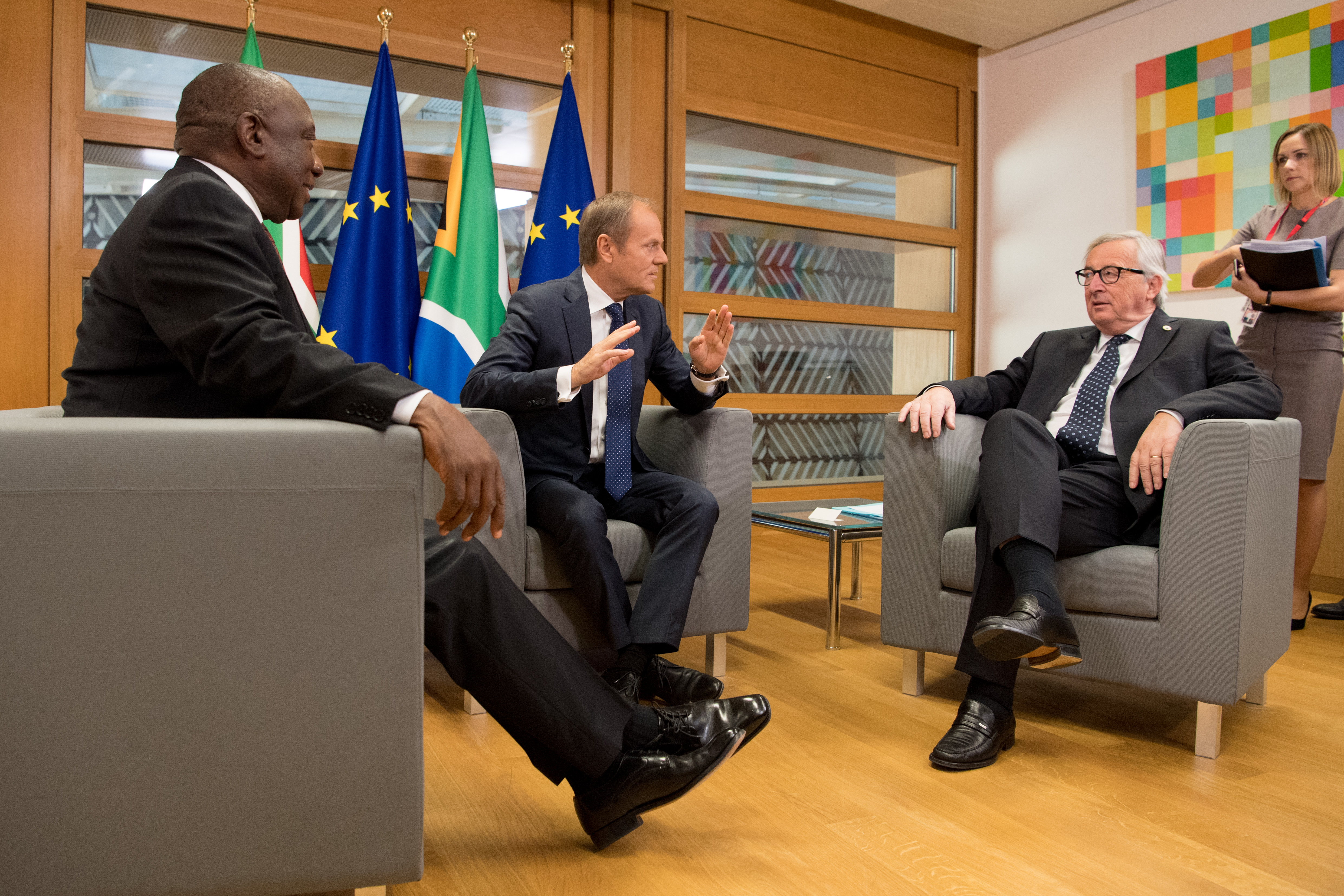Participation of Jean-Claude Juncker, President of the EC in the EU-South Africa summit.