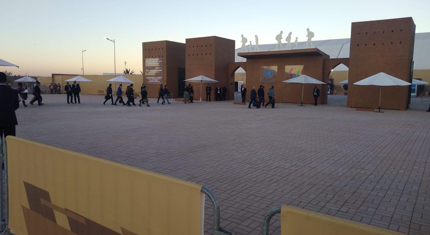 Das Konferenz-Gelände in der Nähe von Marrakesch. Foto: Tania Röttger für Correctiv.