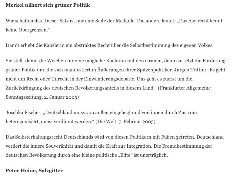 Nein Jürgen Trittin Möchte Den Deutschen Bevölkerungsanteil