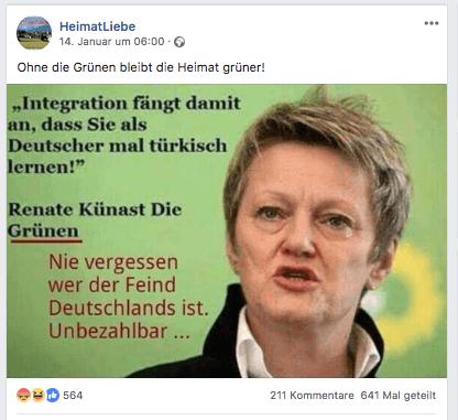 Nein Renate Künast Hat Nicht Gesagt Dass Integration
