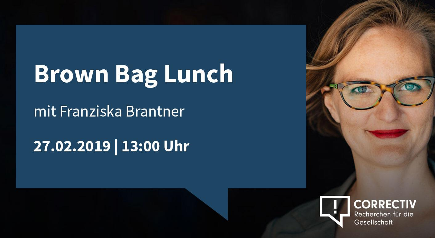 Brown Bag Lunch - mit Franziska Brantner