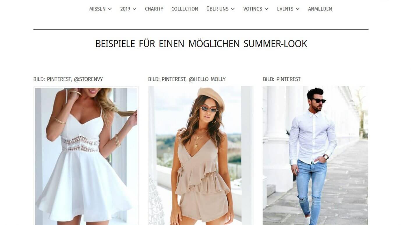 Sommermode Beispiele Miss Germany - Melek Kosar