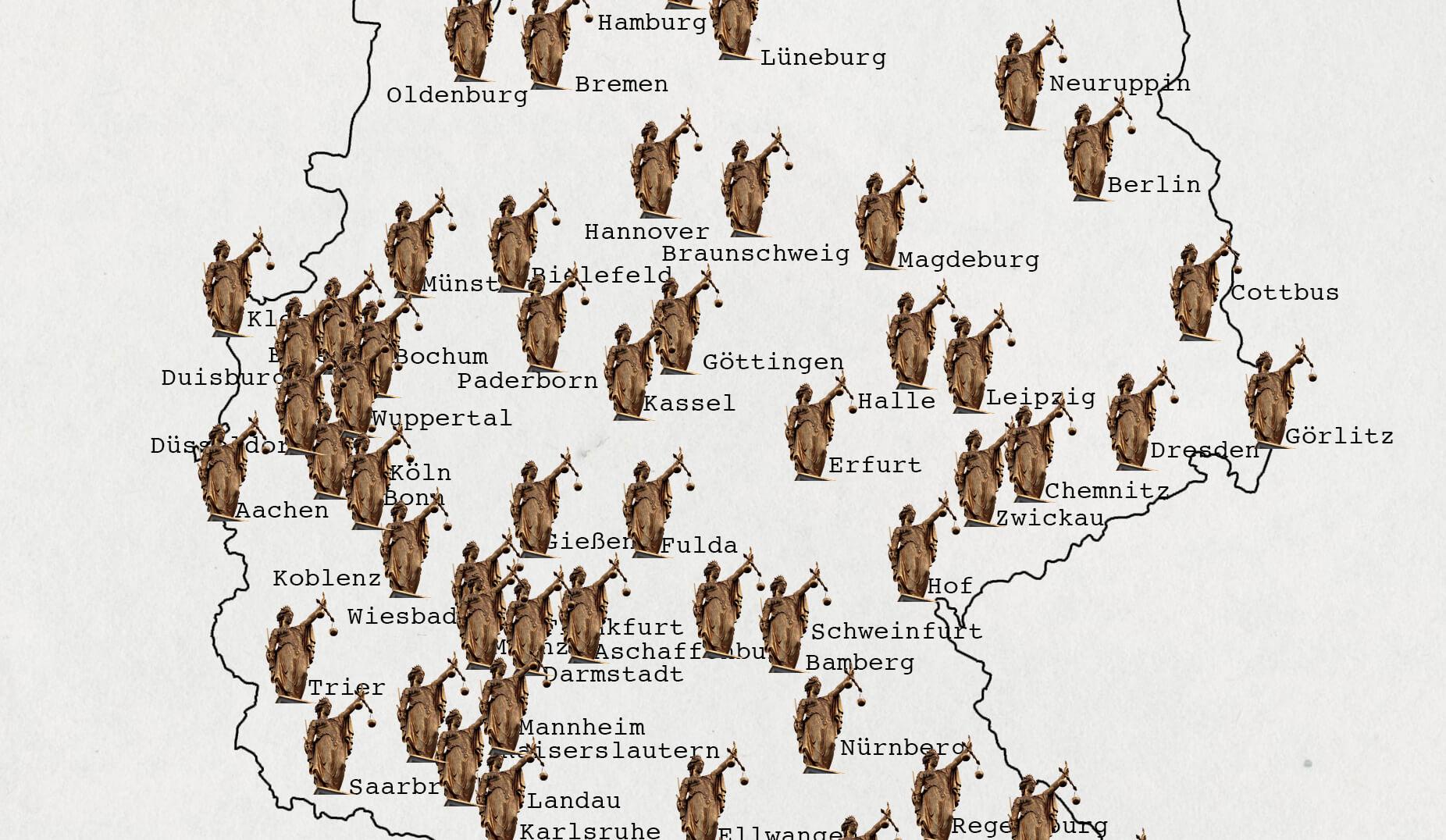 Reise durch Deutschland: Abmahnanwalt verklagt Correctiv und Spiegel Online. © Ivo Mayr