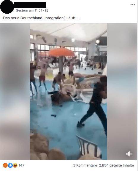 Nein, dieses Video einer Schlägerei im Schwimmbad stammt nicht aus Deutschland, sondern aus Israel