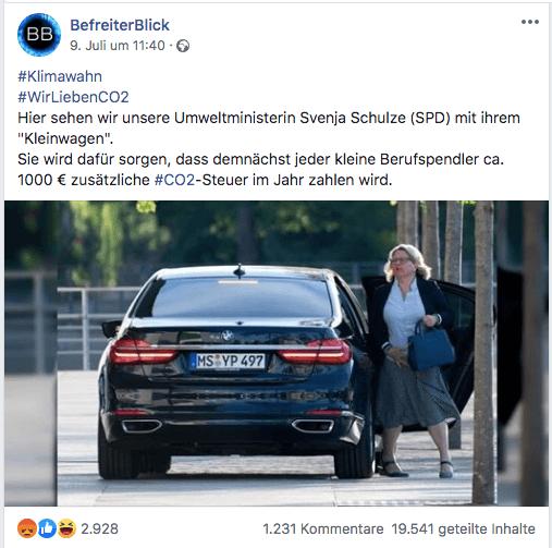 Nein, durch die CO2-Steuer zahlt nicht jeder Pendler 1.000 Euro mehr im Jahr