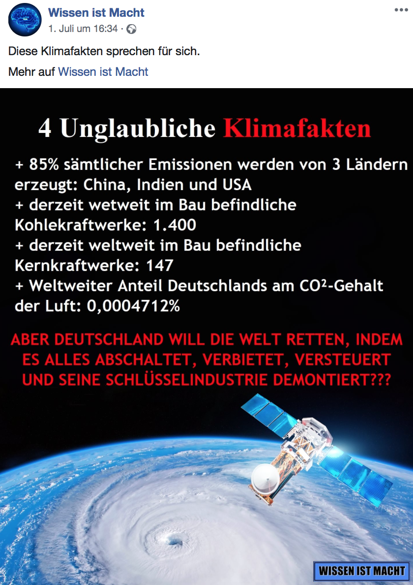"""Diese """"4 unglaublichen Klimafakten"""" stimmen nur zum Teil"""