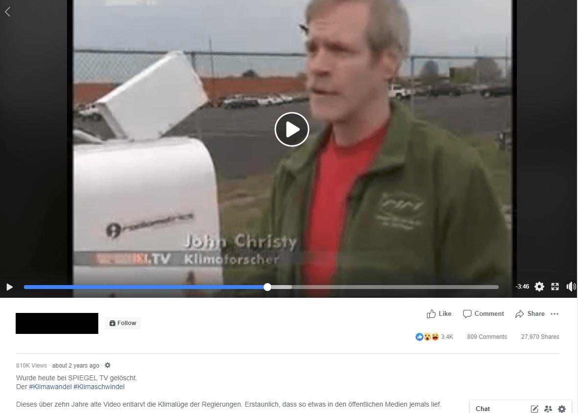 Zwölf Jahre altes Video von Spiegel TV streut Zweifel am menschengemachten Klimawandel