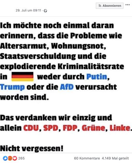 """Nein, die """"Kriminalitätsrate"""" in Deutschland """"explodiert"""" nicht"""