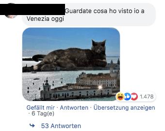 Dieses Bild eines Kreuzfahrtschiffs in Venedig ist eine Fotomontage