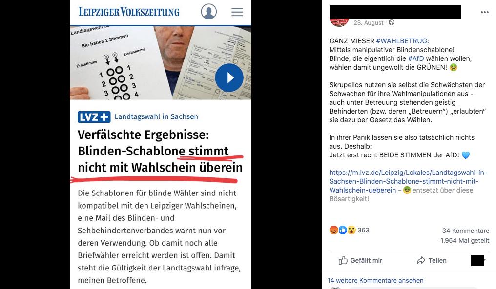 Fehlerhafte Blinden-Schablonen für Landtagswahl in Leipzig betreffen nicht nur die AfD