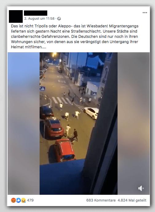 Ja, dieses Video ist echt, aber Wiesbaden ist so sicher wie seit 1984 nicht mehr