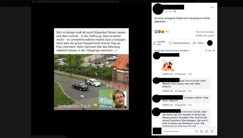 Ja, Grünen-Ministerin wechselte vor Wahlkampftermin in ein Hybrid-Auto