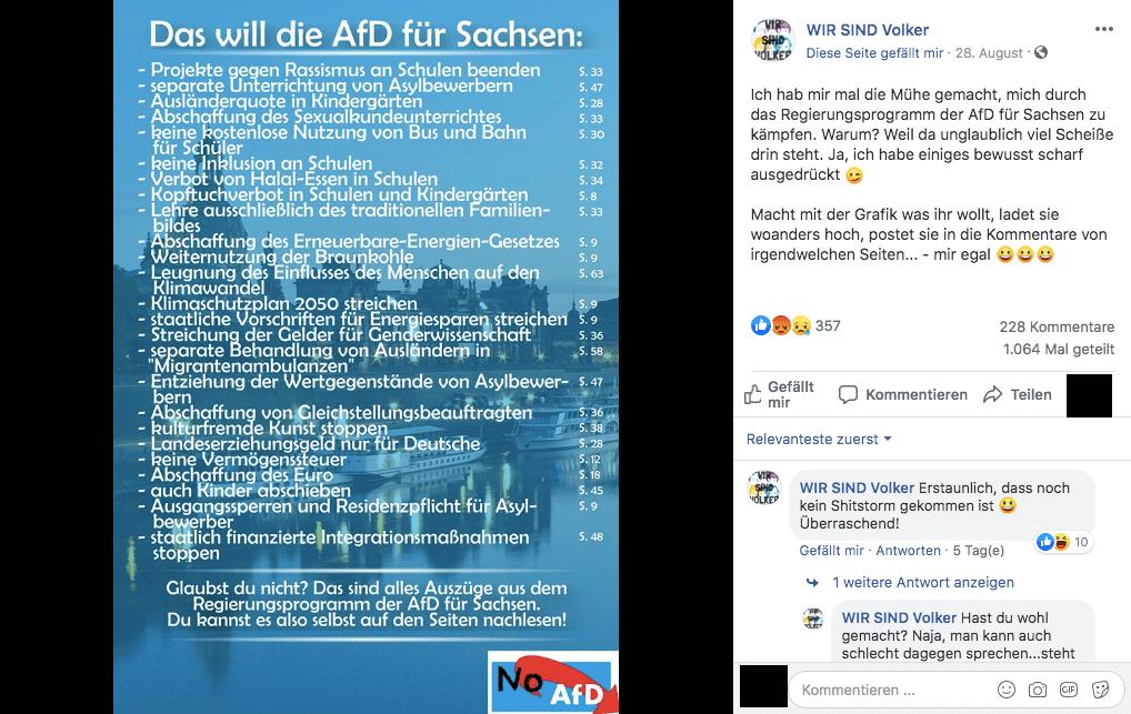 Diese Grafik über das AfD-Wahlprogramm für Sachsen stimmt größtenteils