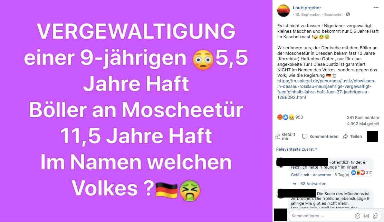 """Nein, ein Deutscher bekam nicht zehn Jahre Haft für """"Böller an der Moscheetür"""" – er wurde wegen versuchten Mordes verurteilt"""
