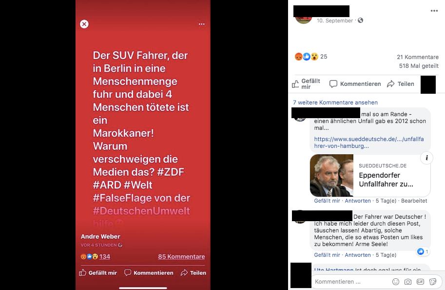 Der Fahrer, der in Berlin mit einem SUV in eine Menschengruppe raste, ist Deutscher