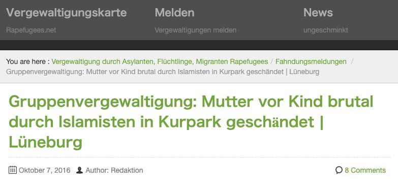 """Vergewaltigung in Lüneburger Kurpark 2016? Ermittlungen wurden wegen """"erheblicher Zweifel"""" an den Darstellungen eingestellt"""