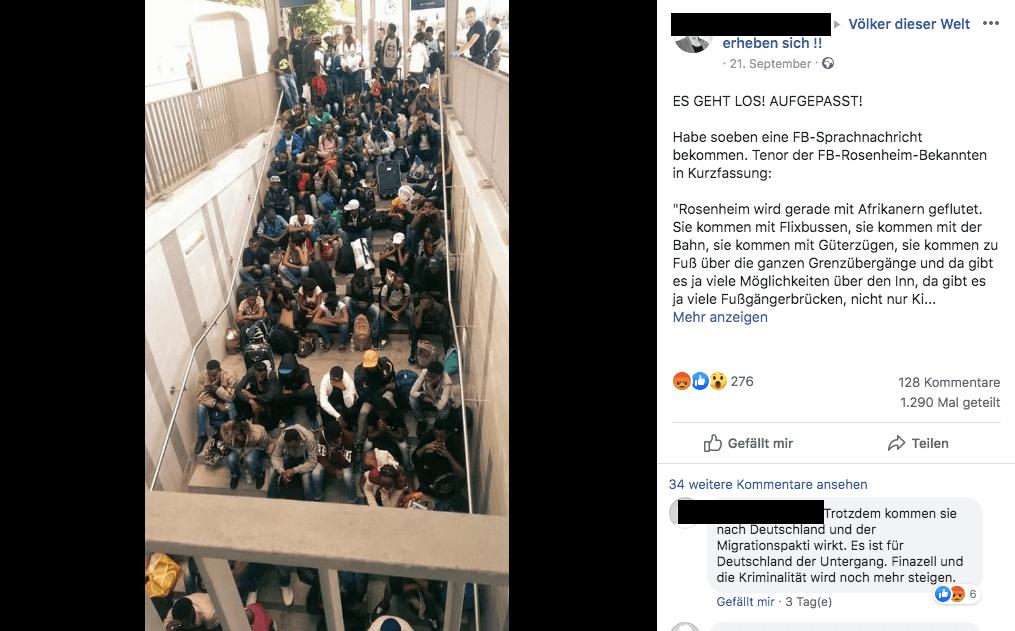 """Nein, Rosenheim wird nicht """"mit Migranten geflutet"""""""