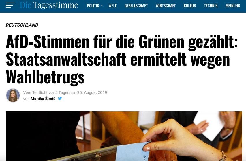 Nein, die Staatsanwaltschaft ermittelt bisher nicht im Fall eines angeblichen Wahlbetrugs in Brandenburg