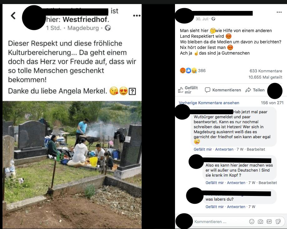 Nein, dieses Foto zeigt nicht den Westfriedhof in Magdeburg