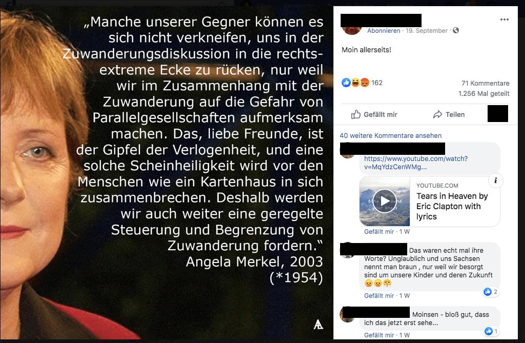 """Nein, Angela Merkel hat auf dem CDU-Parteitag 2003 nicht von """"Gefahr von Parallelgesellschaften"""" gesprochen"""