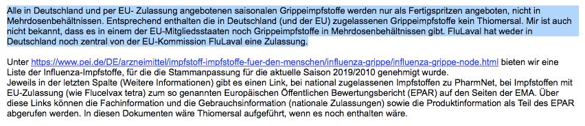 Nein, Grippe-Impfstoffe in Deutschland enthalten kein Quecksilber