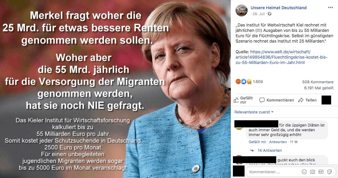 """Nein, Flüchtlinge kosten Deutschland nicht """"bis zu 55 Milliarden Euro pro Jahr"""""""
