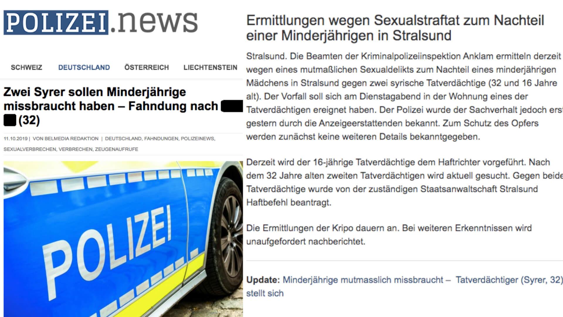 Mutmaßliche Sexualstraftat in Stralsund 2019: Nein, dieser Fahndungsaufruf ist nicht mehr aktuell