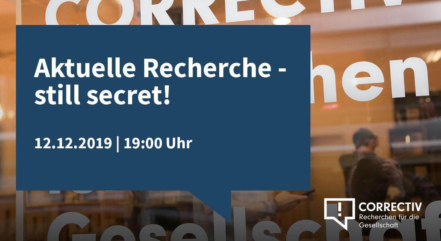 Aktuelle Recherche - still secret!