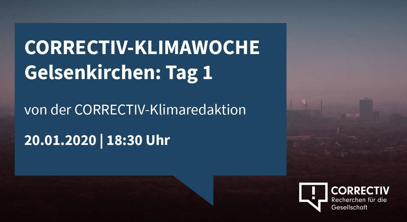 Klimakrise Lokal - CORRECTIV Klimawoche Gelsenkirchen Tag 1