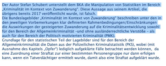 """Keine Belege dafür, dass das BKA Straftaten von Flüchtlingen """"vertuscht"""" hat"""