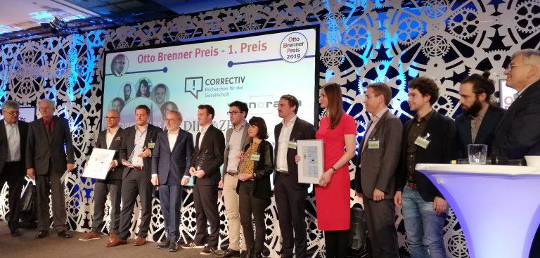 CORRECTIV gewinnt erneut Otto Brenner Preis