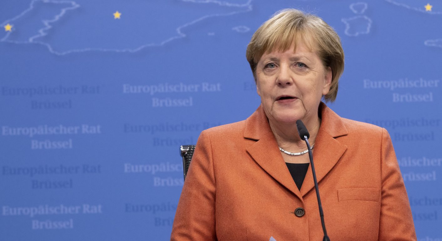 Belgium, Brussels: German Chancellor Angela Merkel
