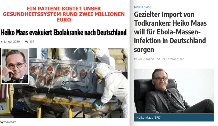 Falsche Behauptungen über Ebola-Kranke, die nach Deutschland evakuiert werden sollen