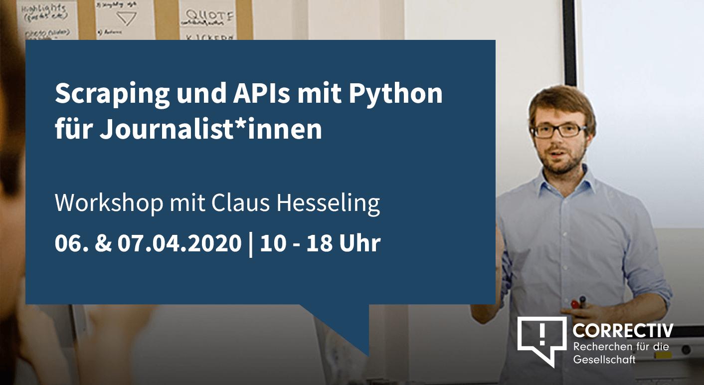 Tag 1 – Scraping und APIs mit Python für Journalist*innen
