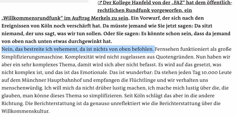 """Der Journalist Wolfgang Herles hat nicht gesagt, dass ZDF-Mitarbeiter """"lügen wie gedruckt"""""""
