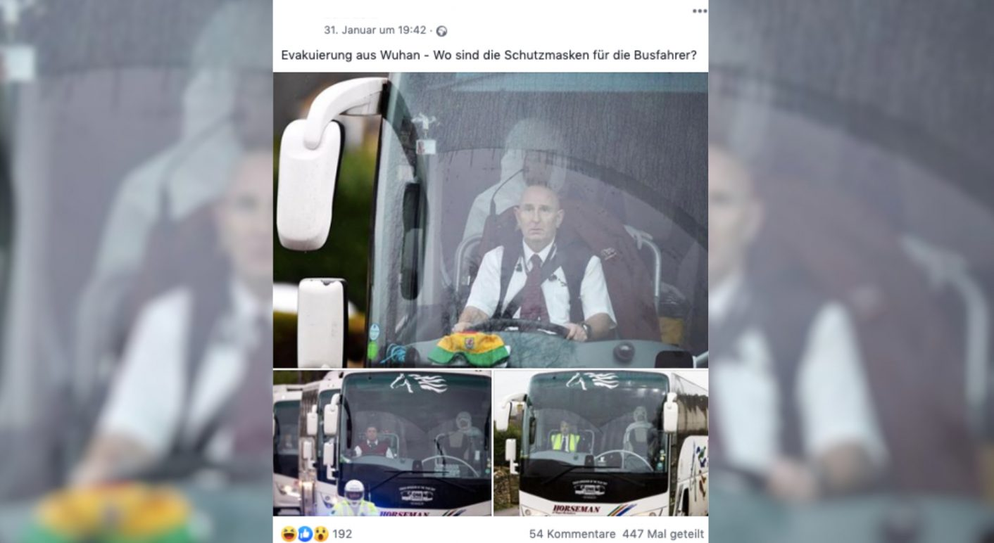 Collage Busfahrer Corona